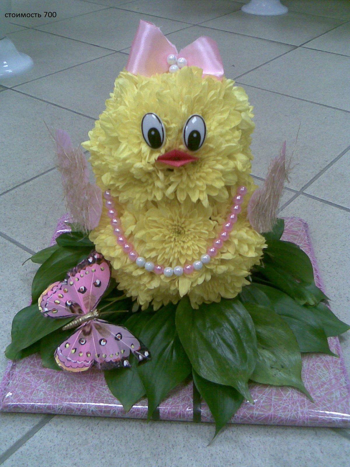 Как сделать цыпленка из живых цветов своими руками 44